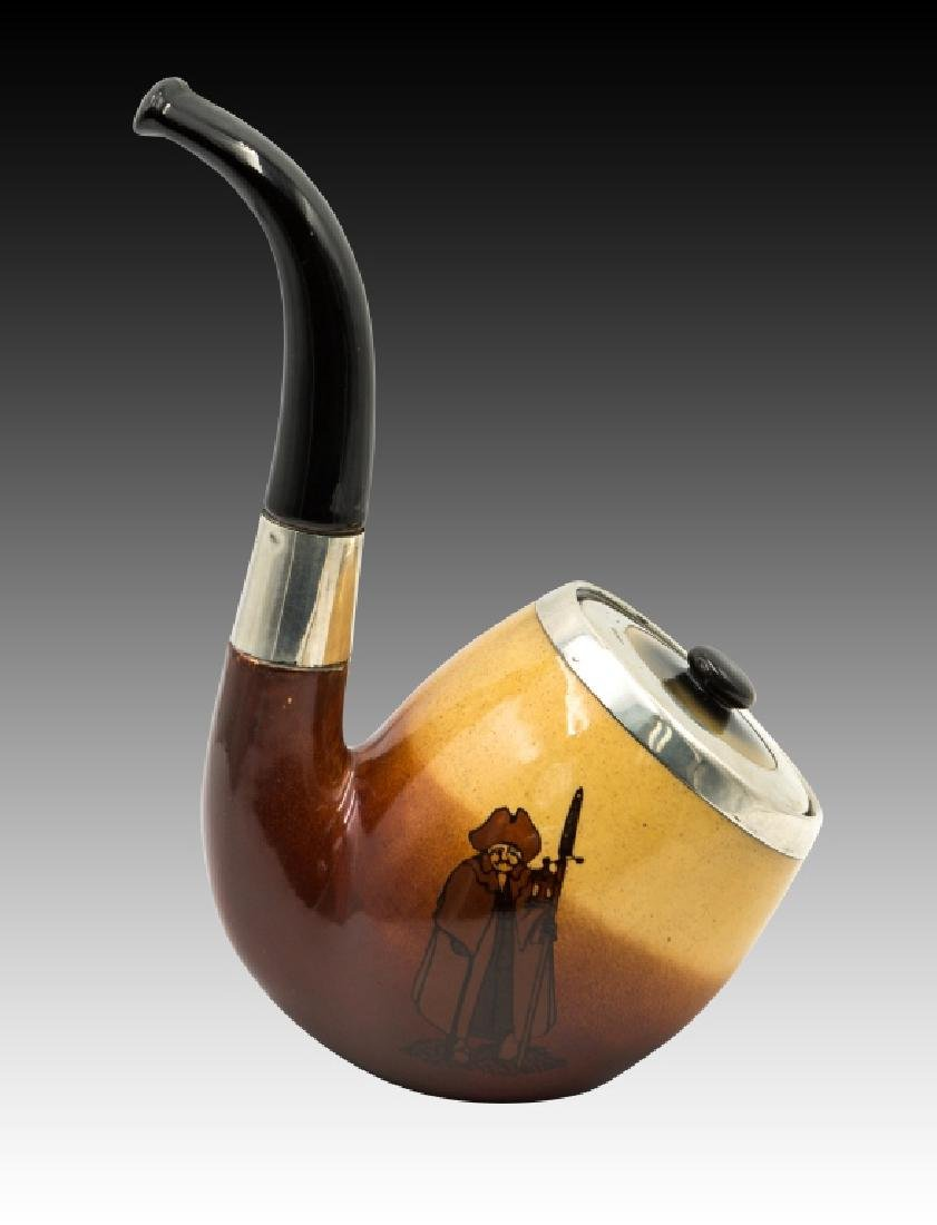 Royal Doulton  Tobacco Jar in the Shape of a Pipe - 5