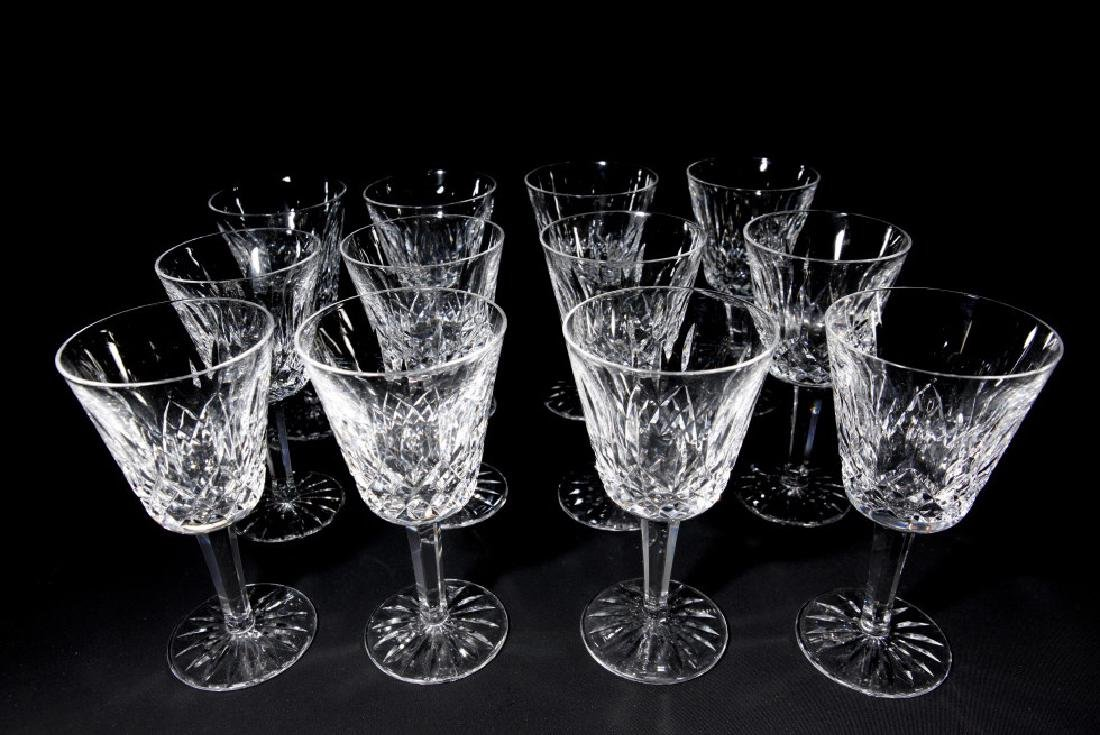 Set of 12 Waterford Lismore Wine Glasses