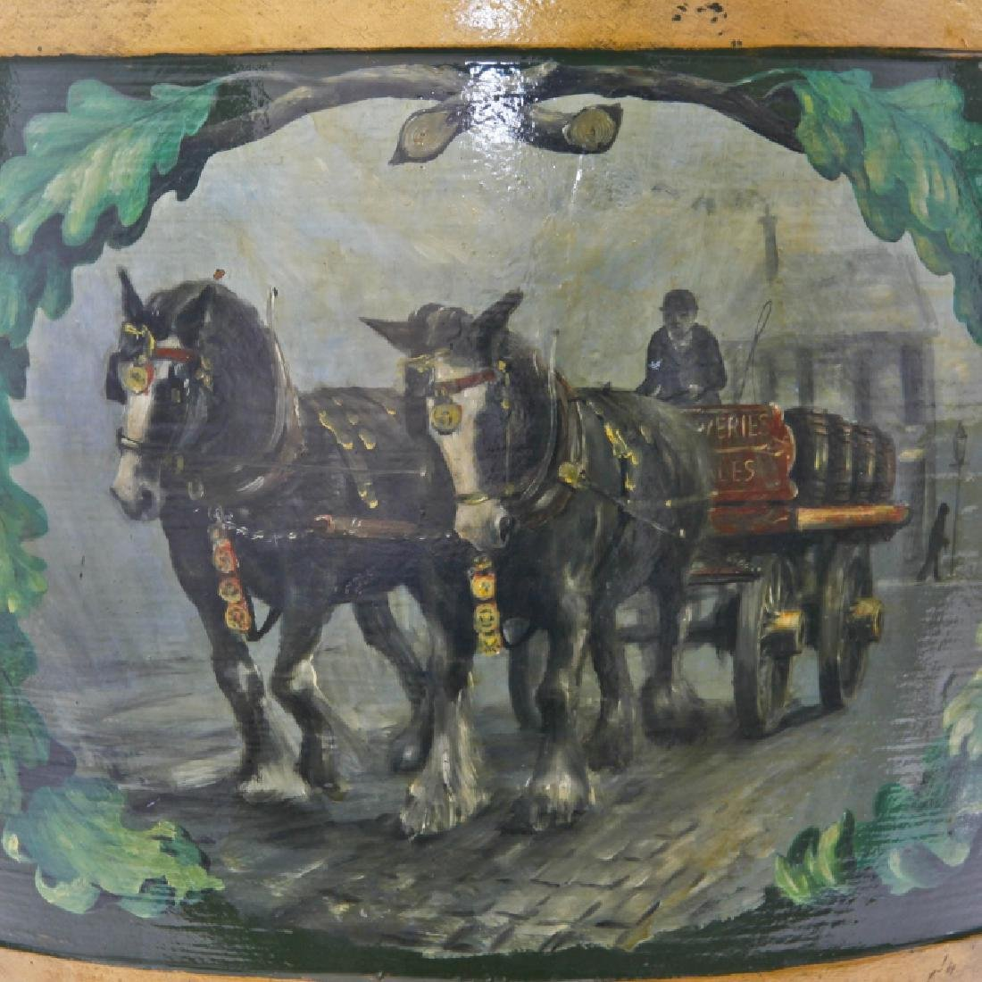 Doulton Lambeth Large Whiskey Barrel with Horses - 2