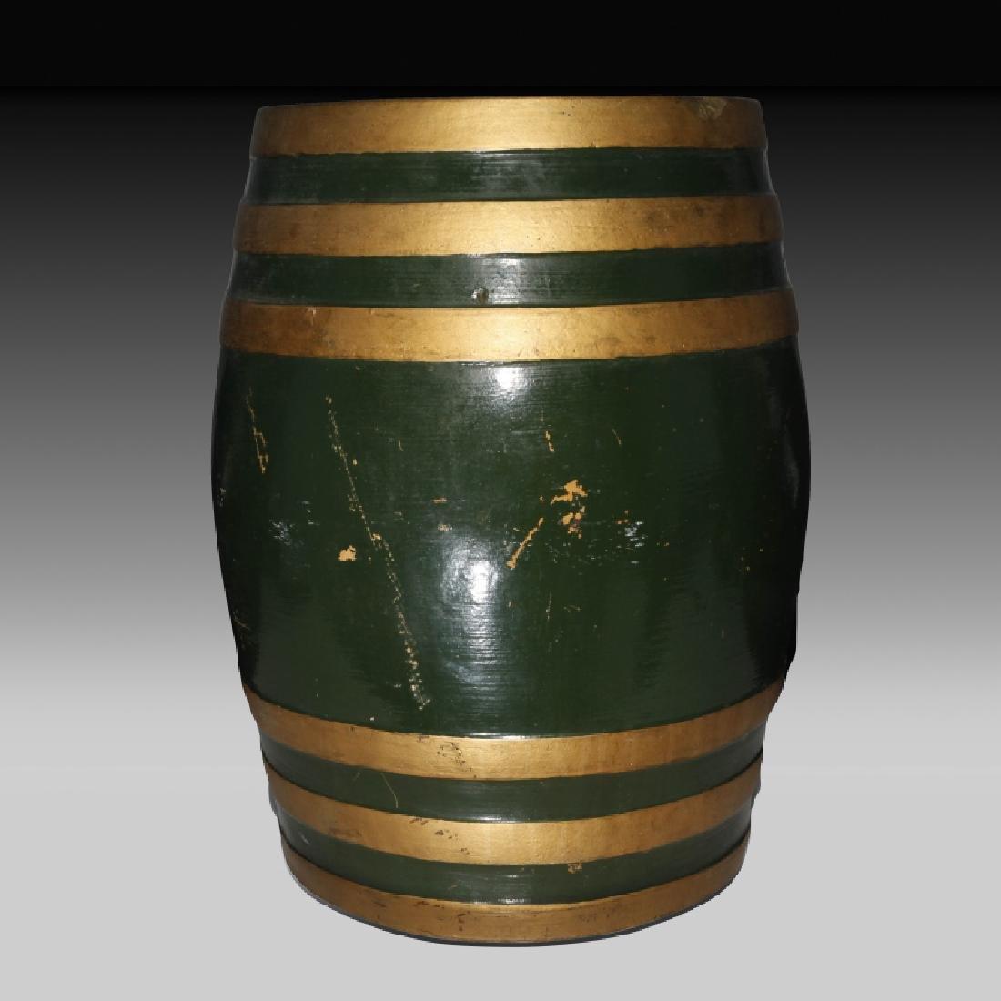 Doulton Lambeth Large Whiskey Barrel with Horses - 3
