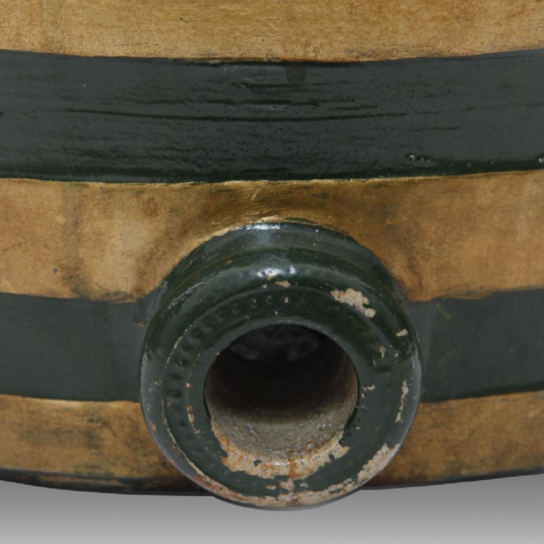Doulton Lambeth Large Whiskey Barrel with Horses - 4