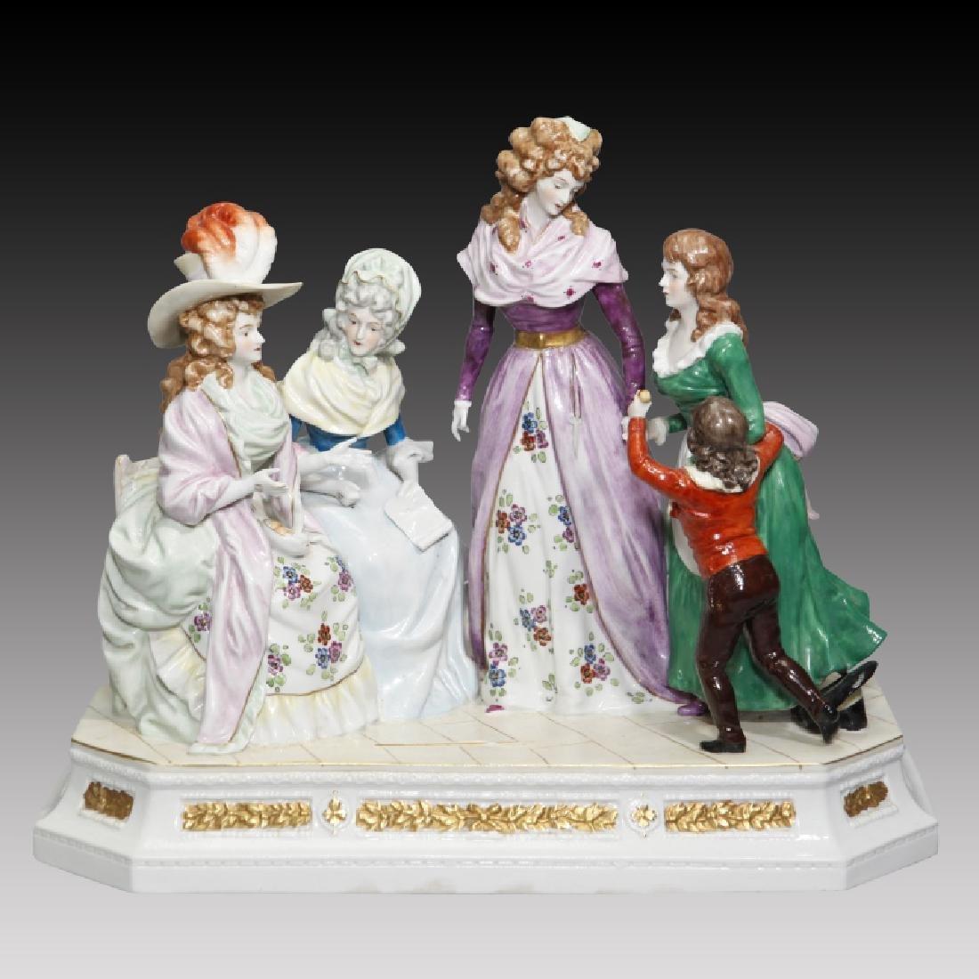 Figurine Grouping of 3 Women and Children