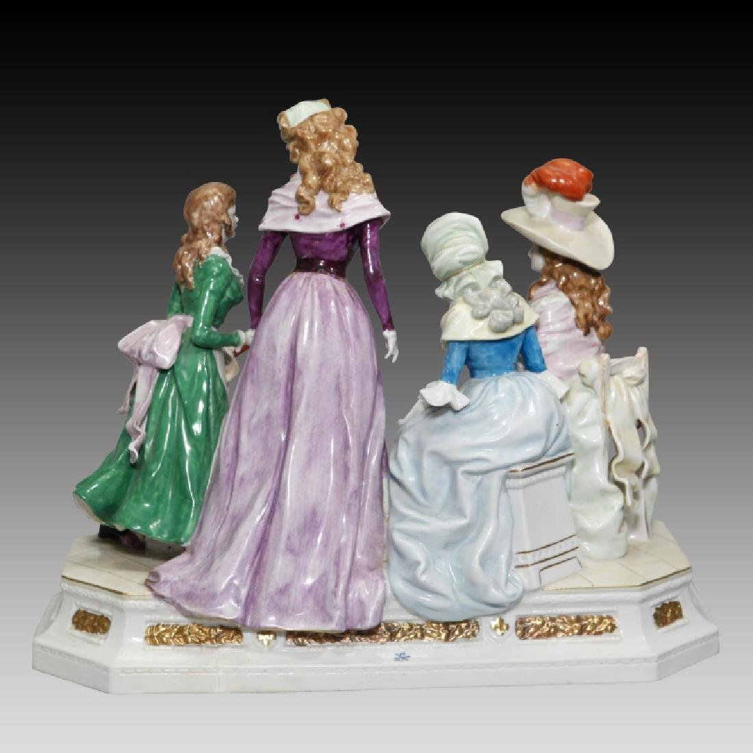 Figurine Grouping of 3 Women and Children - 2