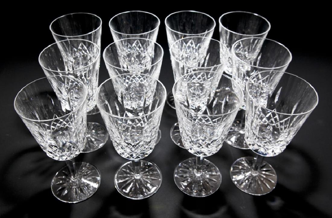 Set of 12 Waterford Lismore Water Goblets