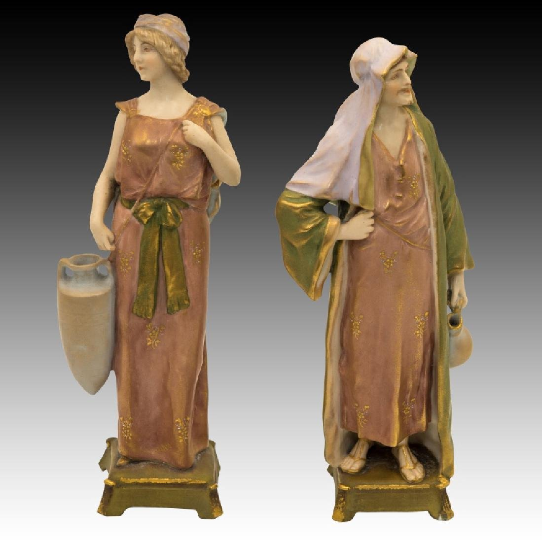 2 Pastel Figurines Man and Woman