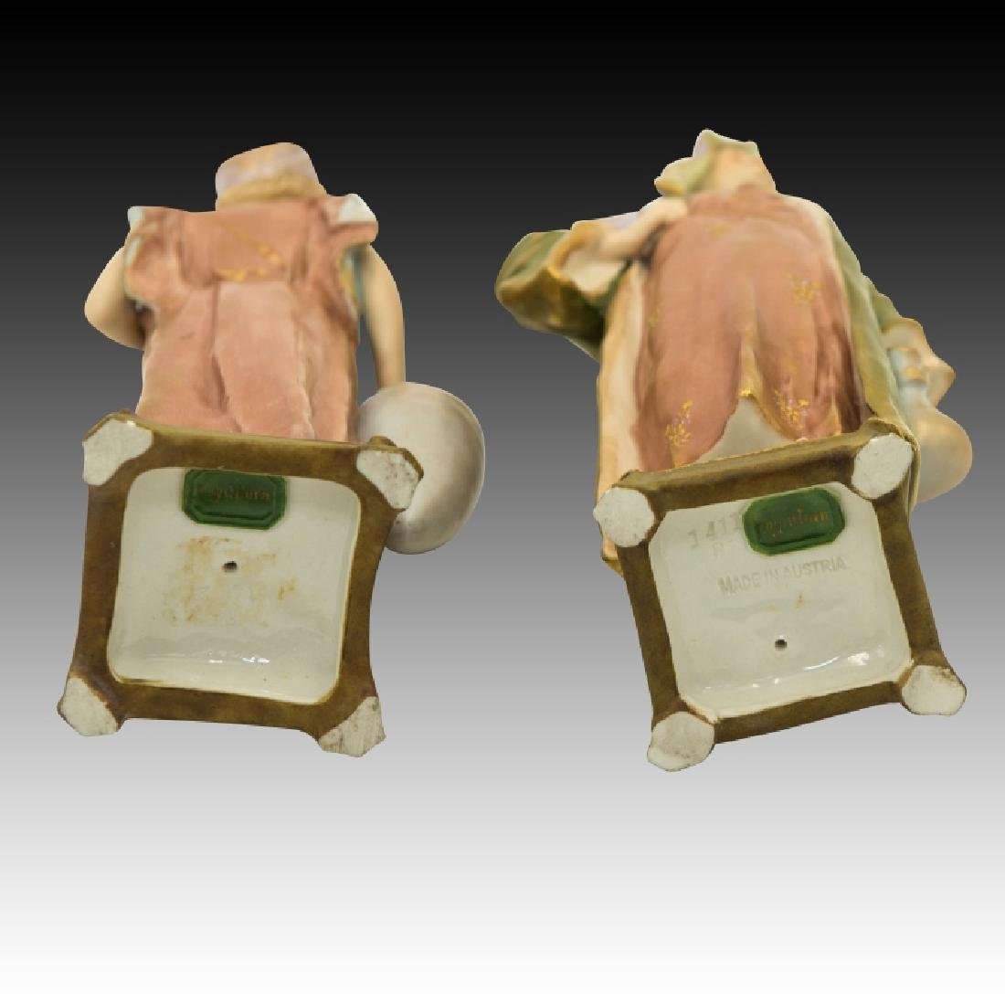 2 Pastel Figurines Man and Woman - 2