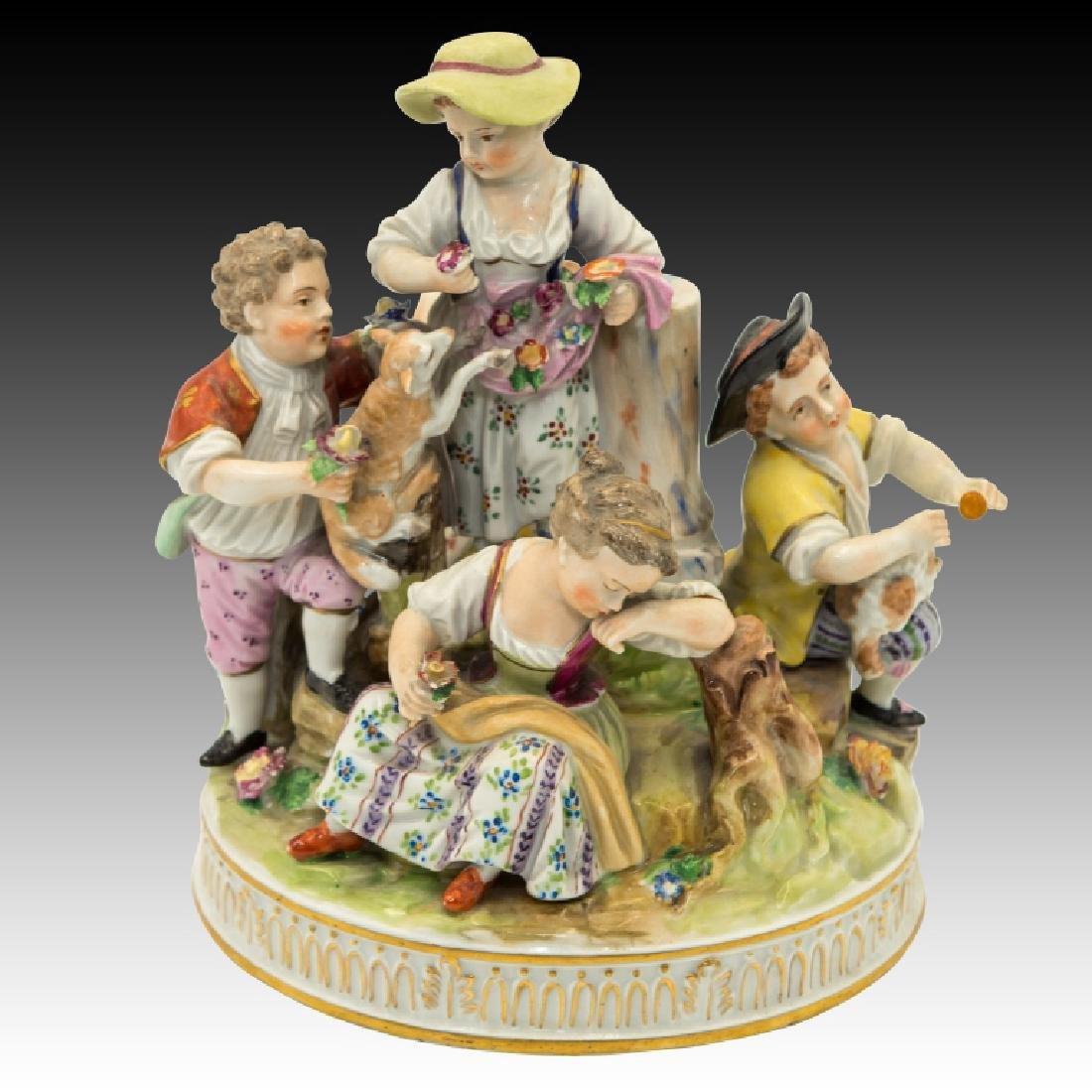 Dresden Figurine Group of  5 Children
