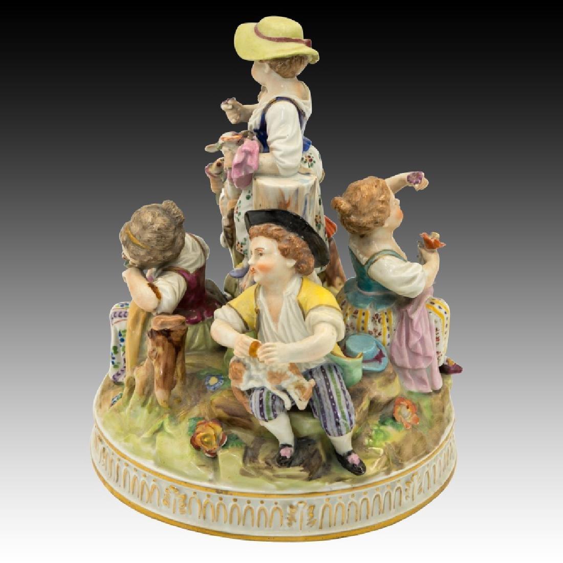 Dresden Figurine Group of  5 Children - 2