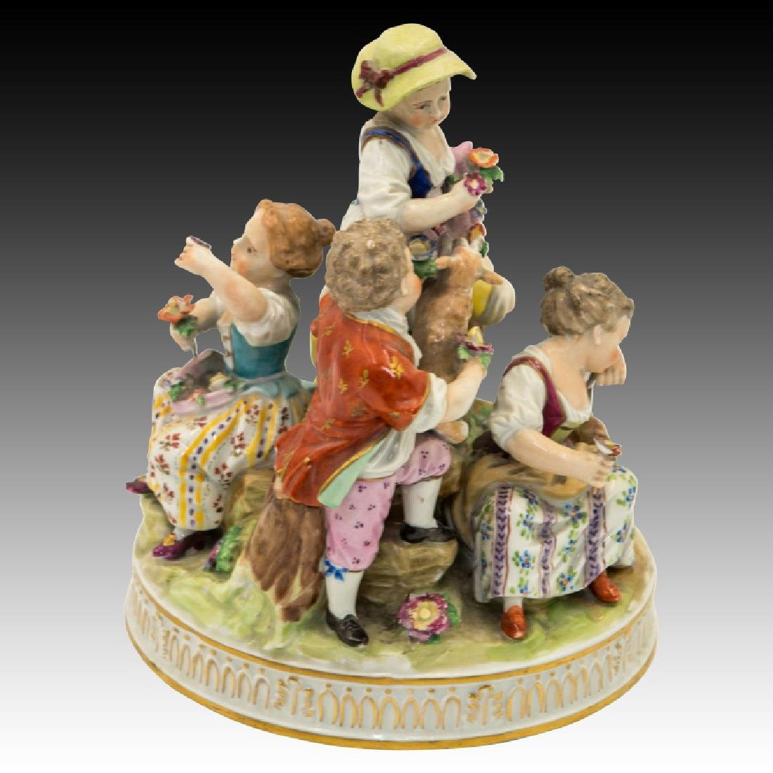 Dresden Figurine Group of  5 Children - 4