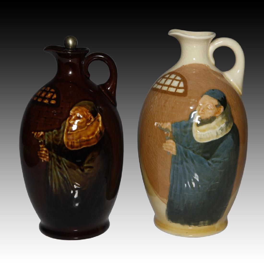 2 Doulton Flasks Alchemist Kingsware & Queensware