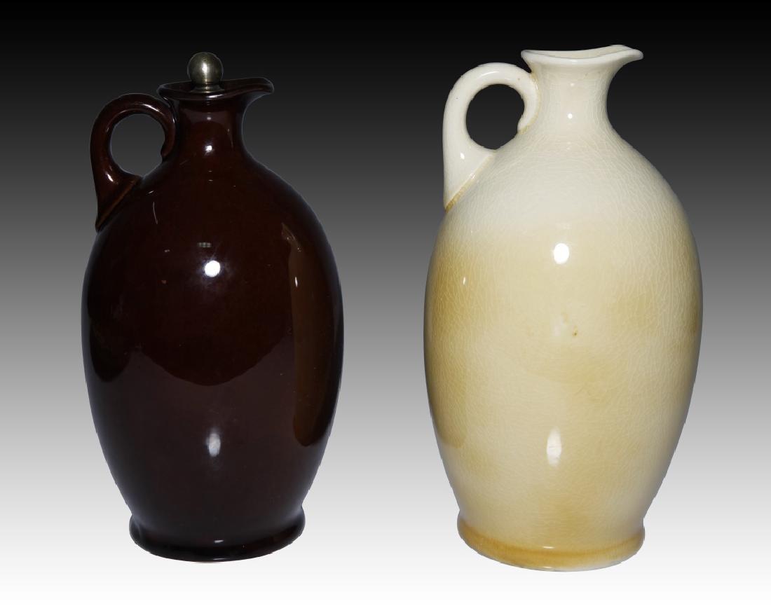 2 Doulton Flasks Alchemist Kingsware & Queensware - 2