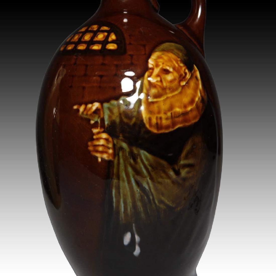 2 Doulton Flasks Alchemist Kingsware & Queensware - 5