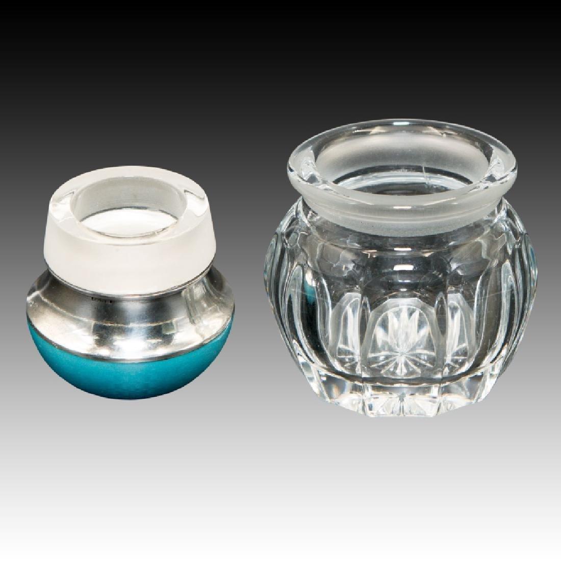 Small Guilloche Enamel Glass Jar - 2