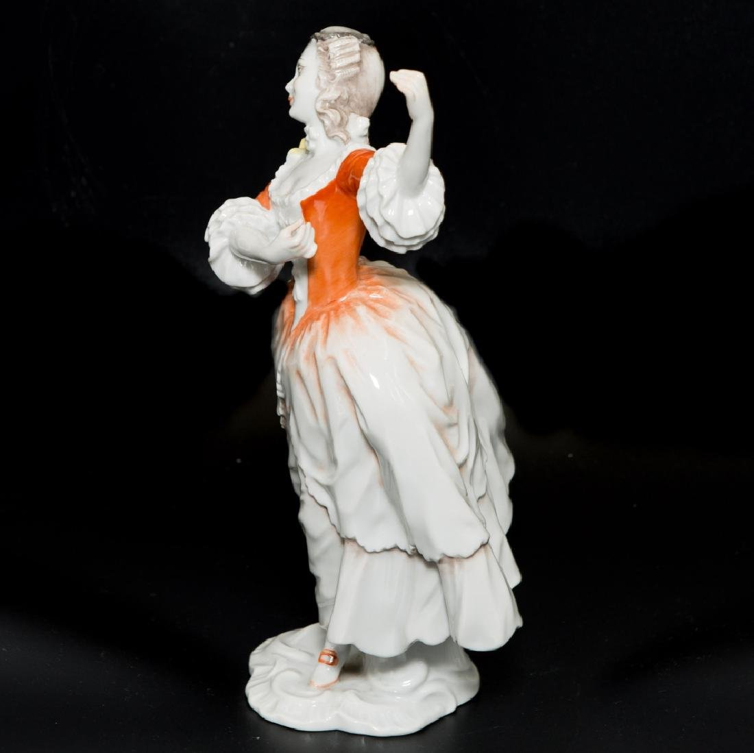 Rosenthal Rococo Girl Dancing Orange White Dress - 2