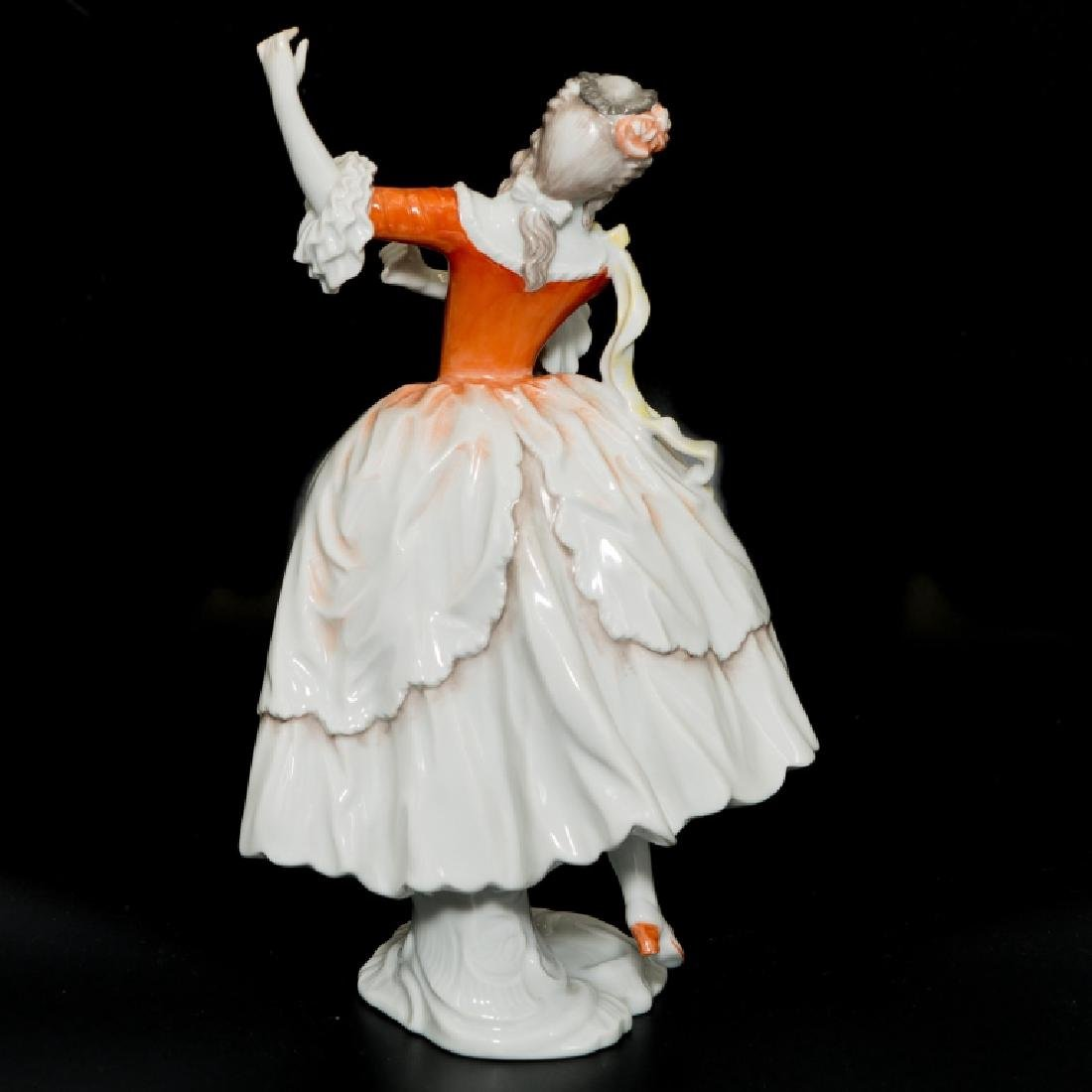 Rosenthal Rococo Girl Dancing Orange White Dress - 3