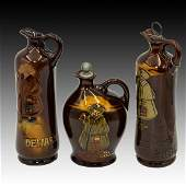 3 Royal Doulton Dewars Kingsware Whiskey Flasks