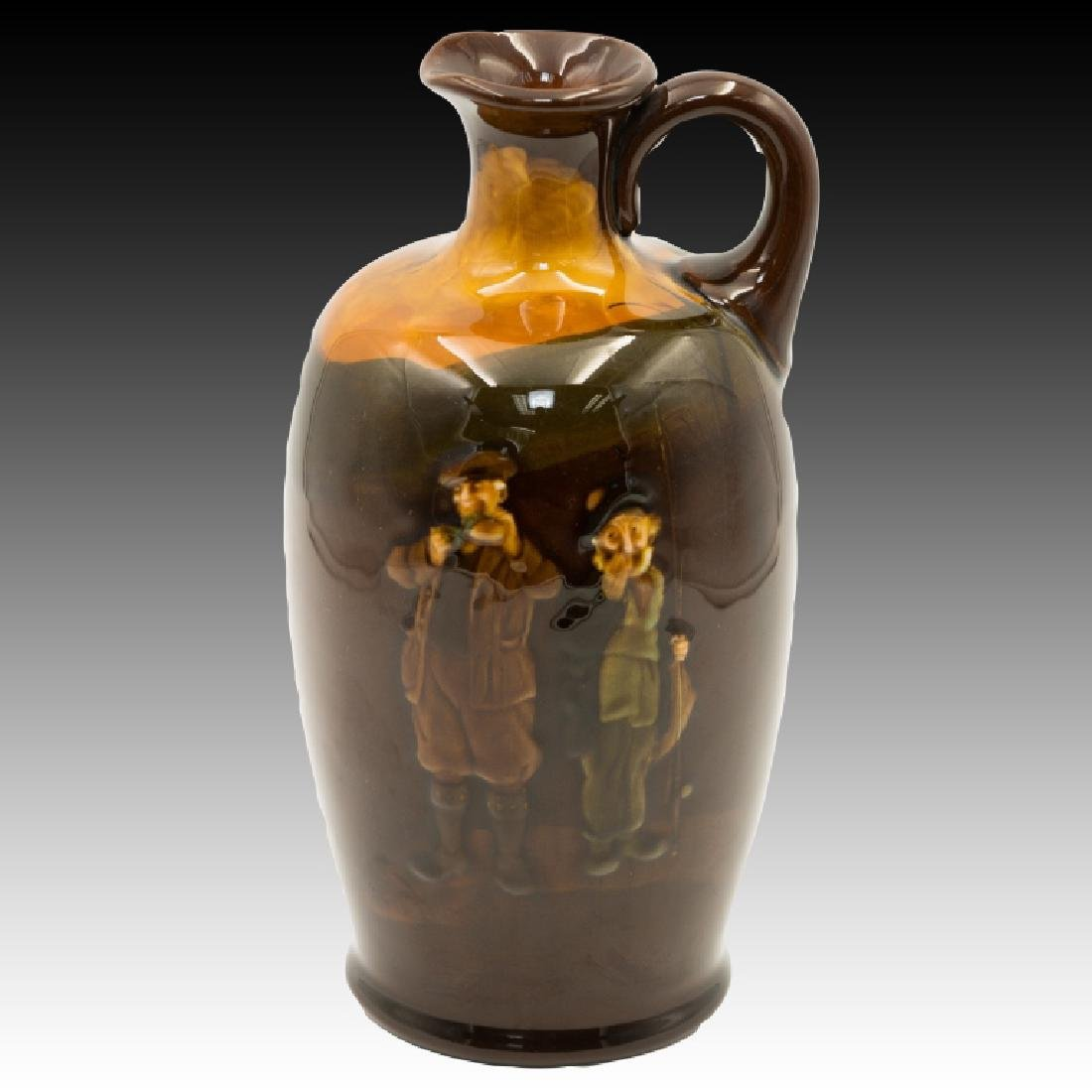 Doulton Kingsware Flask of Fishermen BL Scotch