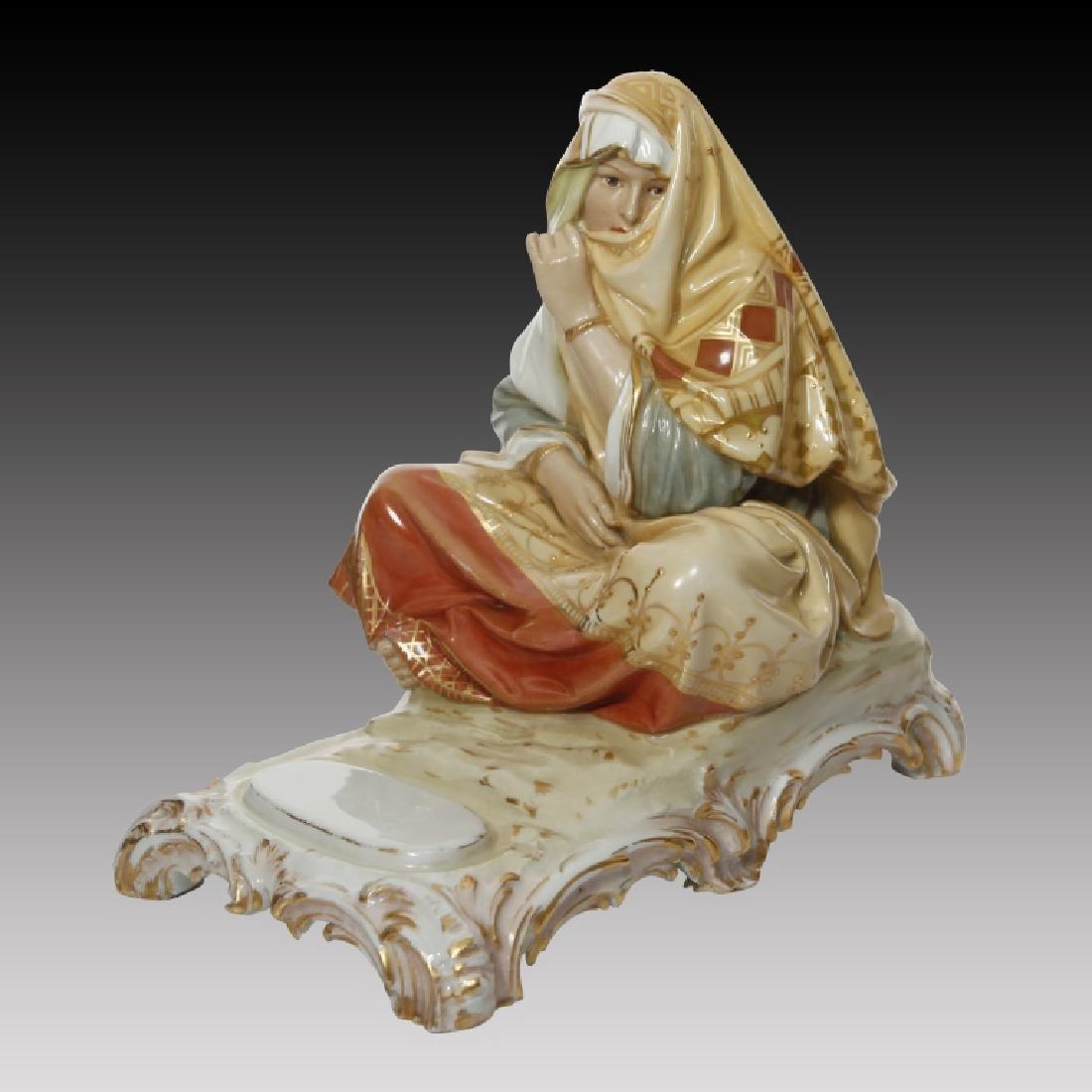 KPM Polychrome Figure of Woman in Arab Costume