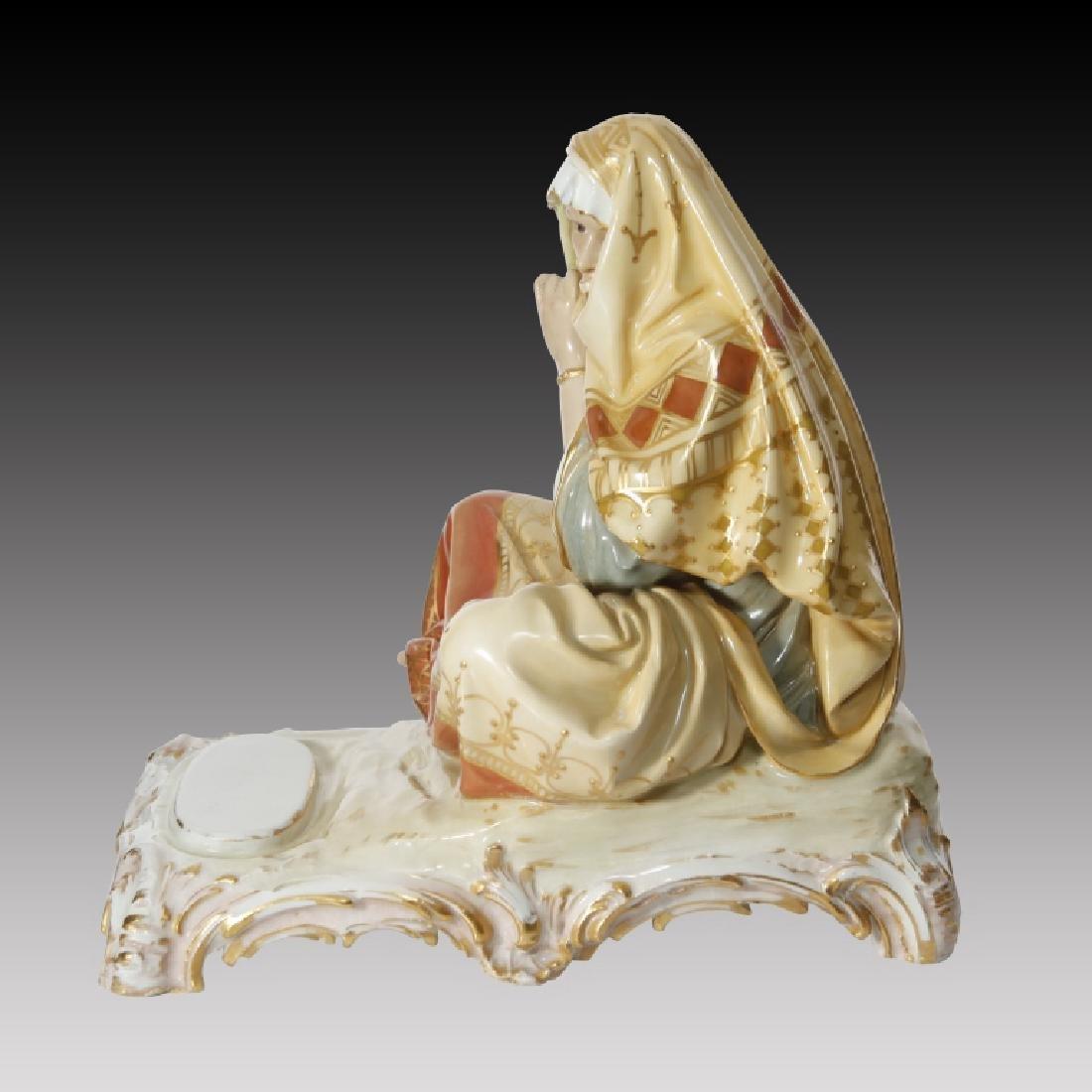 KPM Polychrome Figure of Woman in Arab Costume - 2