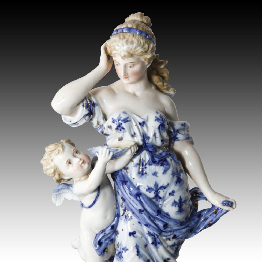 KPM Rubenesque Figure of a Woman and Cherub - 3