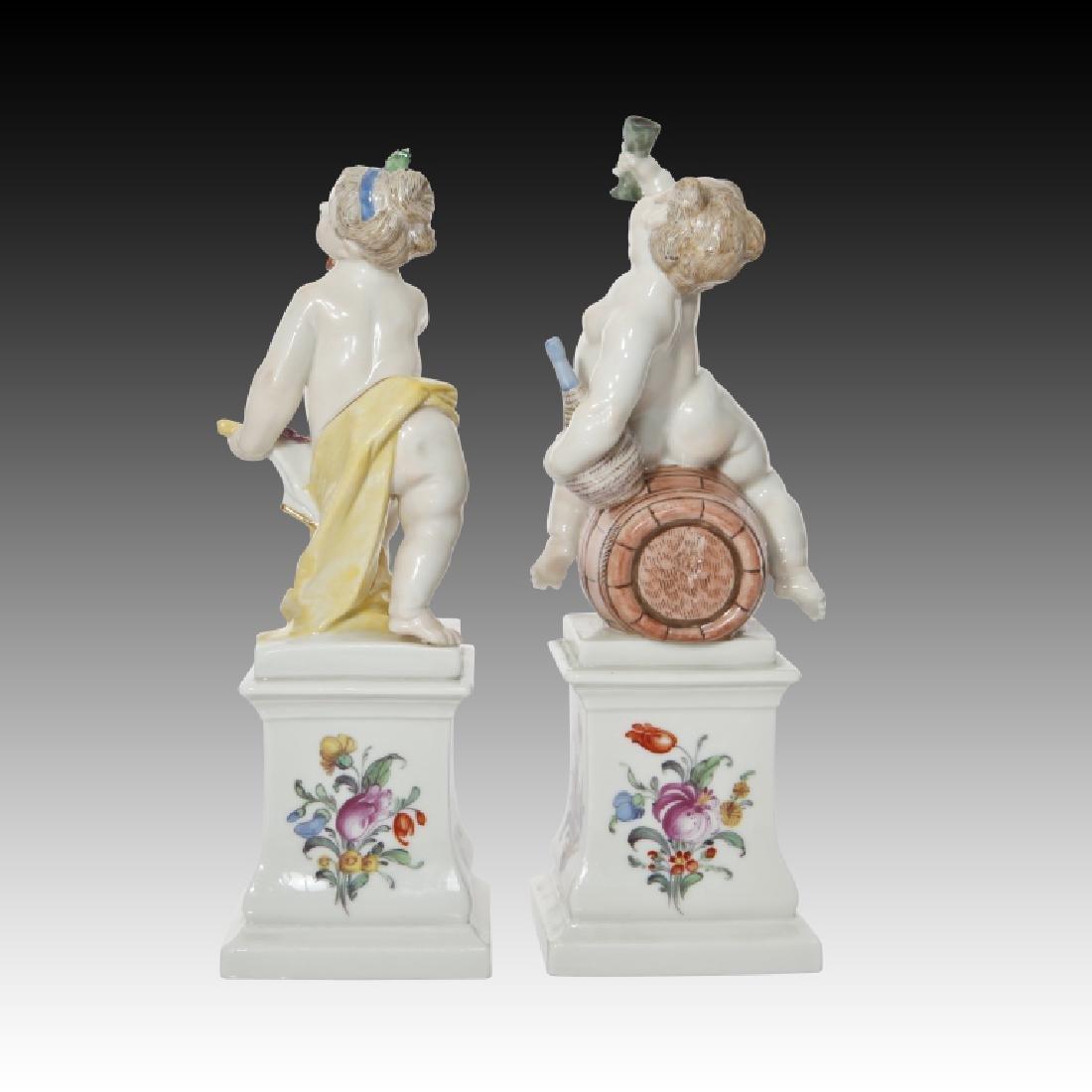 Pair of Nymphenburg Cherub Figurine
