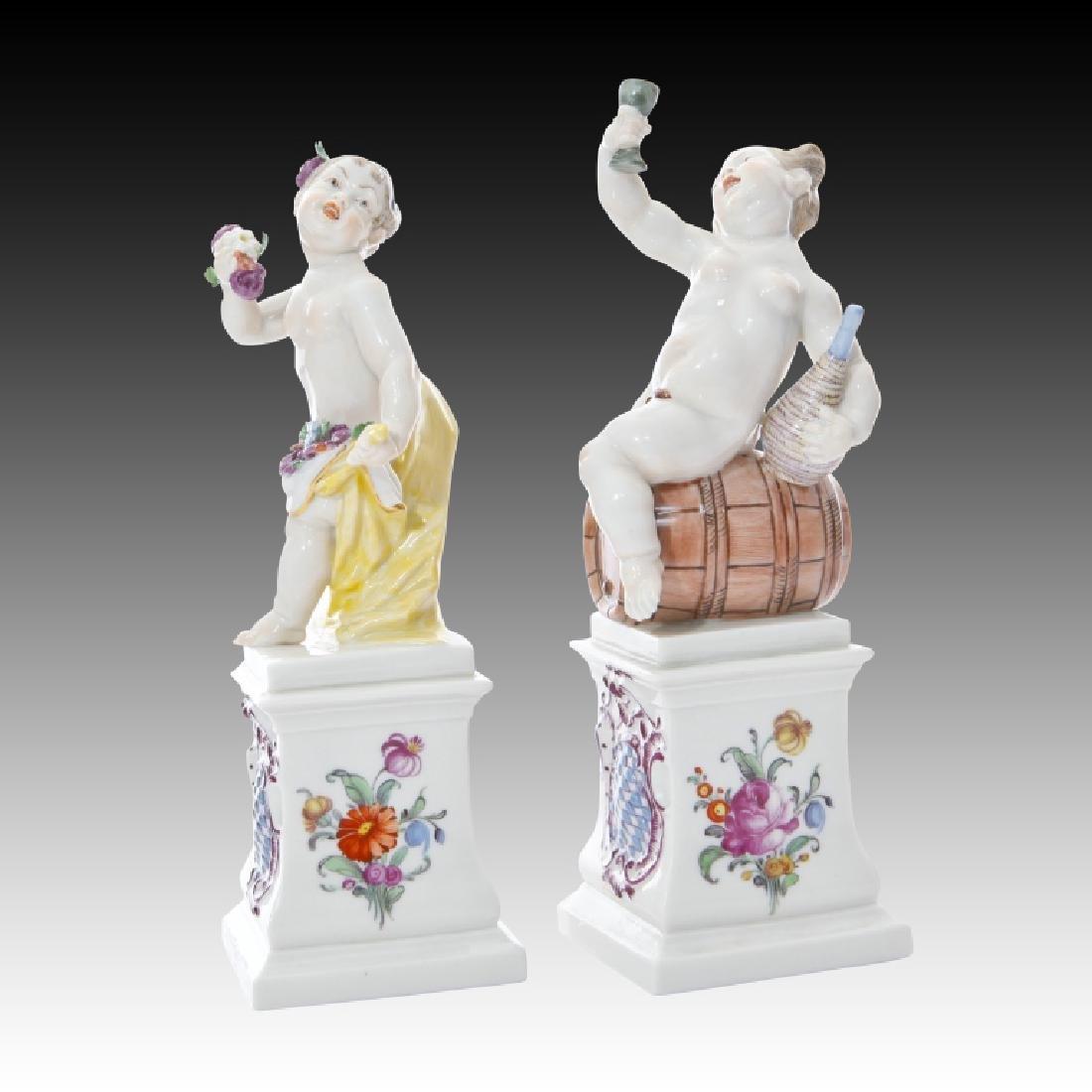 Pair of Nymphenburg Cherub Figurine - 2