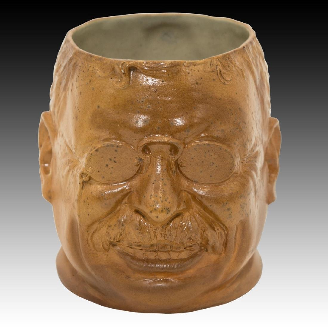 Doulton Lambeth Stoneware Teddy Roosevelt Jug