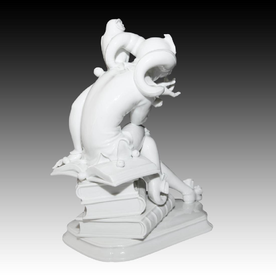 Meissen Court Jester Figure with Owl - 3