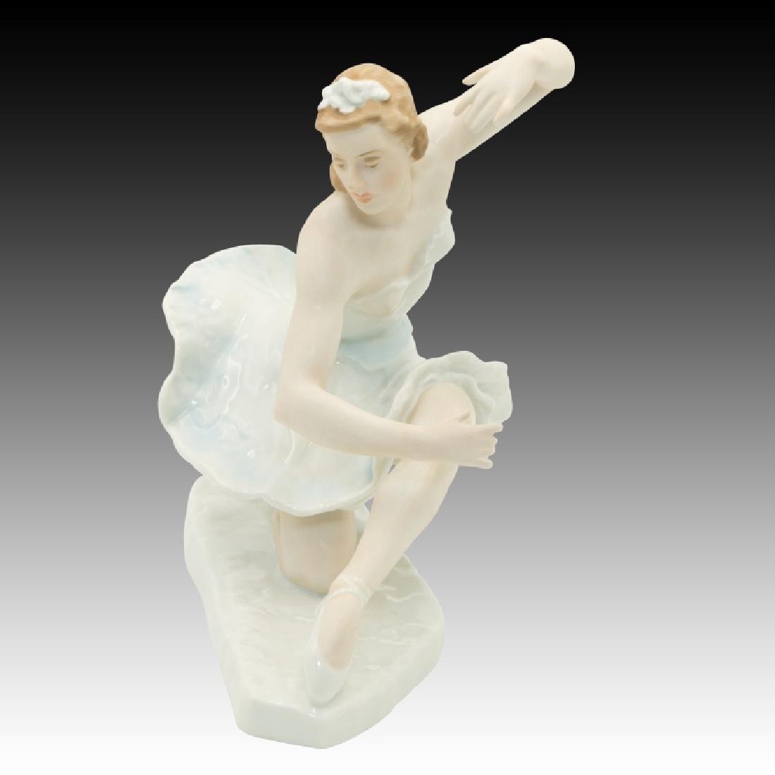 Rosenthal Ballerina Figure Kneeling with Hands Up - 2