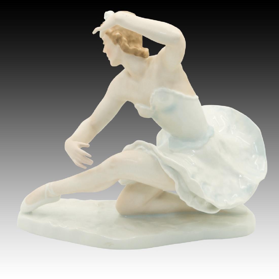 Rosenthal Ballerina Figure Kneeling with Hands Up - 3