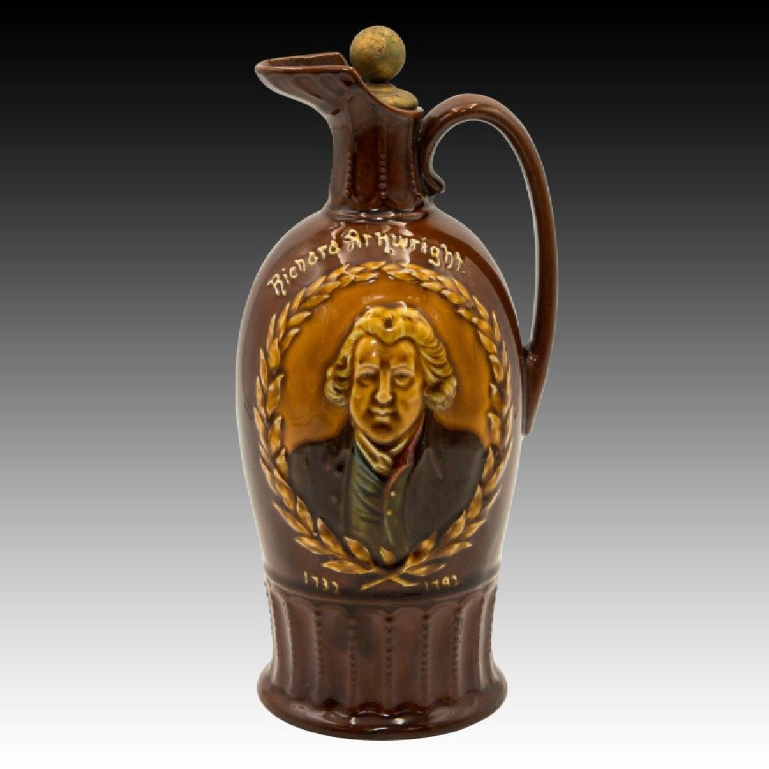 Doulton Kingsware Dewar's Richard Arkwright Flask