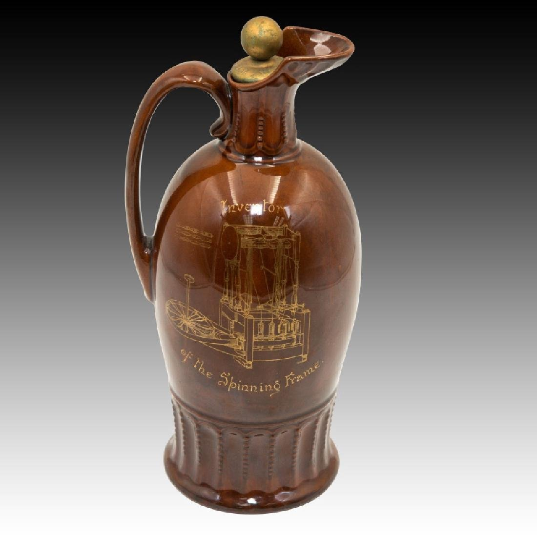 Doulton Kingsware Dewar's Richard Arkwright Flask - 3