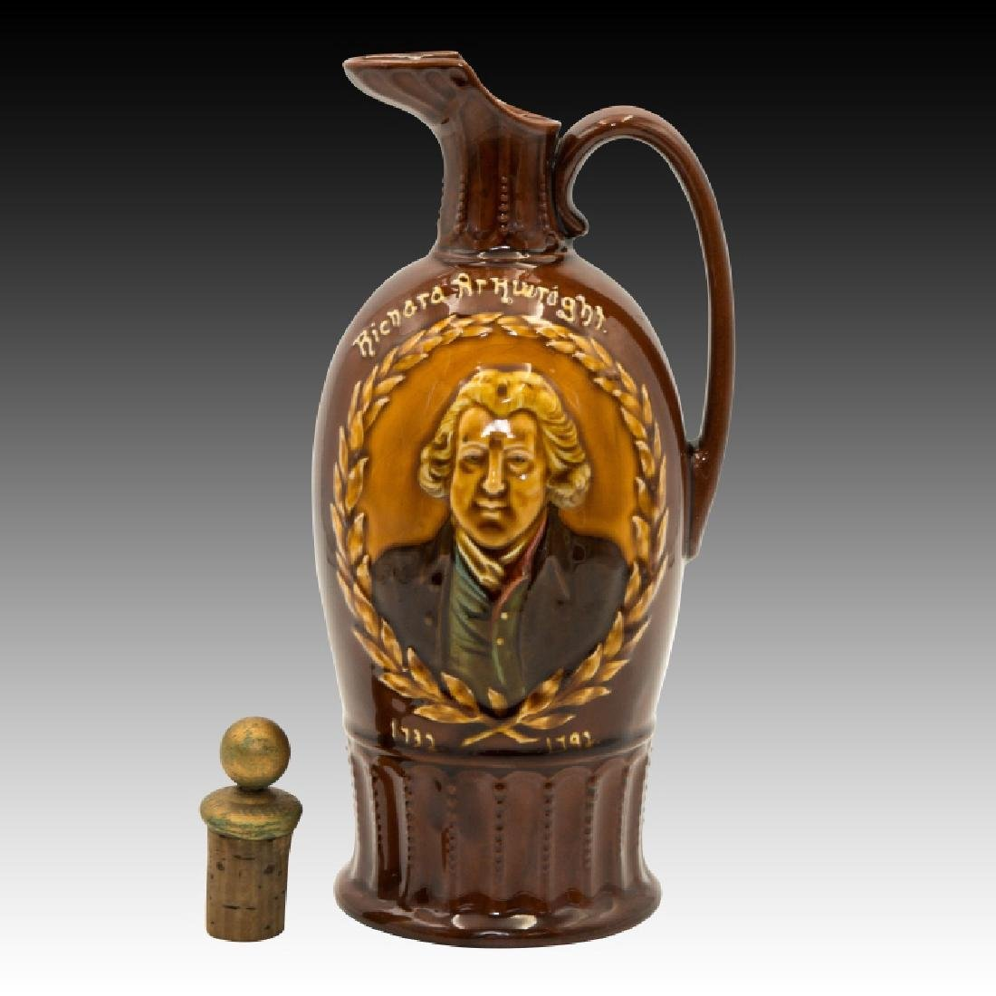 Doulton Kingsware Dewar's Richard Arkwright Flask - 5
