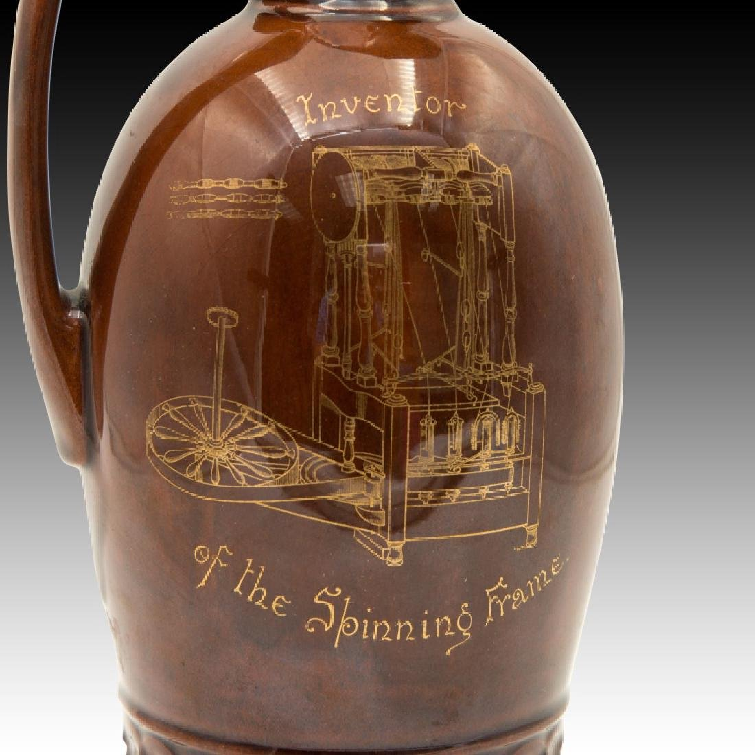 Doulton Kingsware Dewar's Richard Arkwright Flask - 7