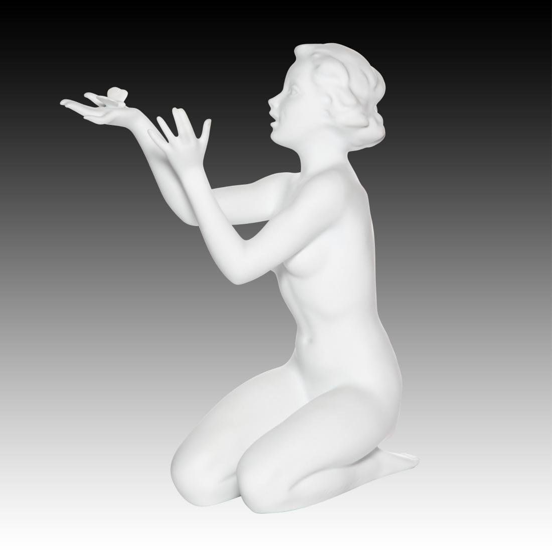 Kaiser Nude Female Kneeling with Butterfly