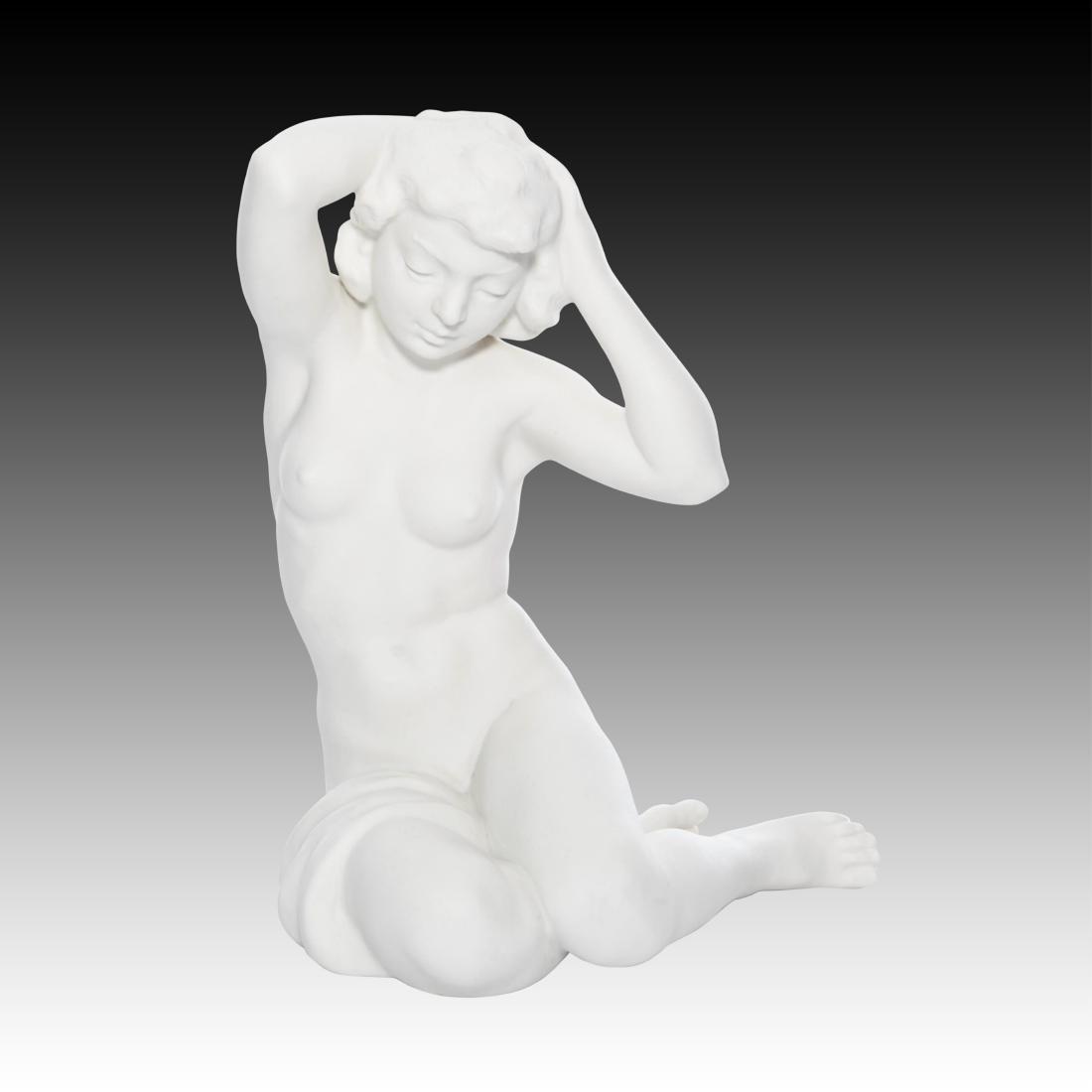 Hutschenreuther Bisque Nude Woman Figurine