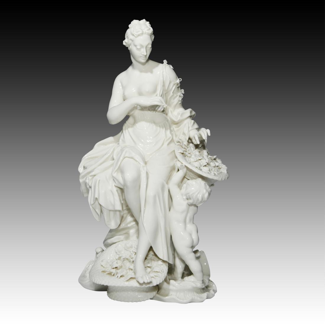Nymphenburg Blanc De Chine Seated Diana
