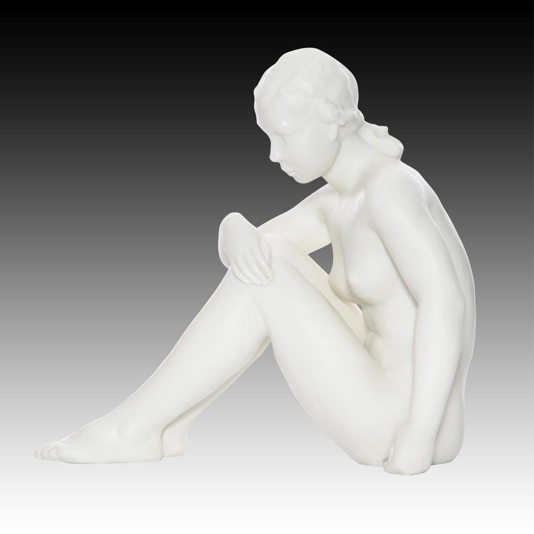 Rosenthal Young Nude Seated Woman