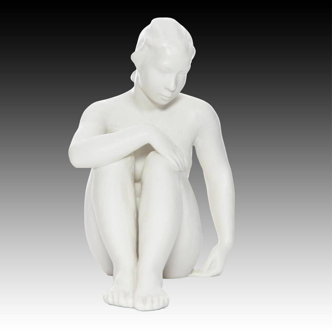 Rosenthal Young Nude Seated Woman - 3