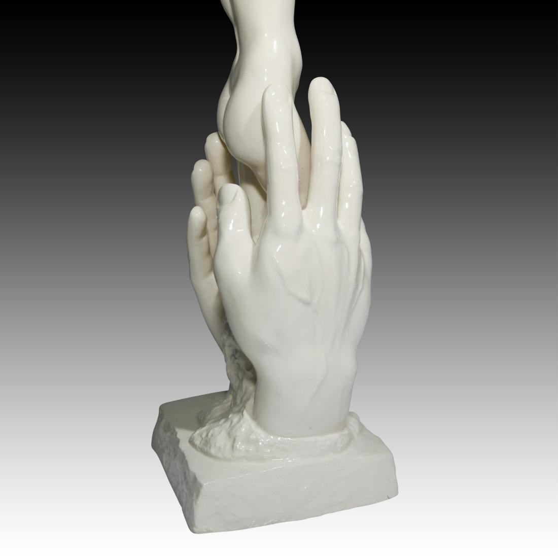 Nude Young Woman In Between Hands Figurine - 2