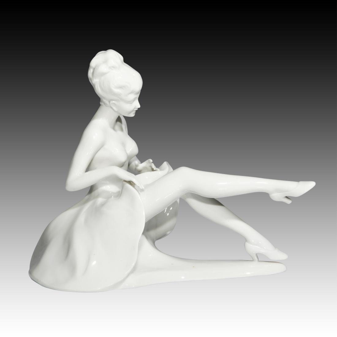 Young Woman Extending Her Legs