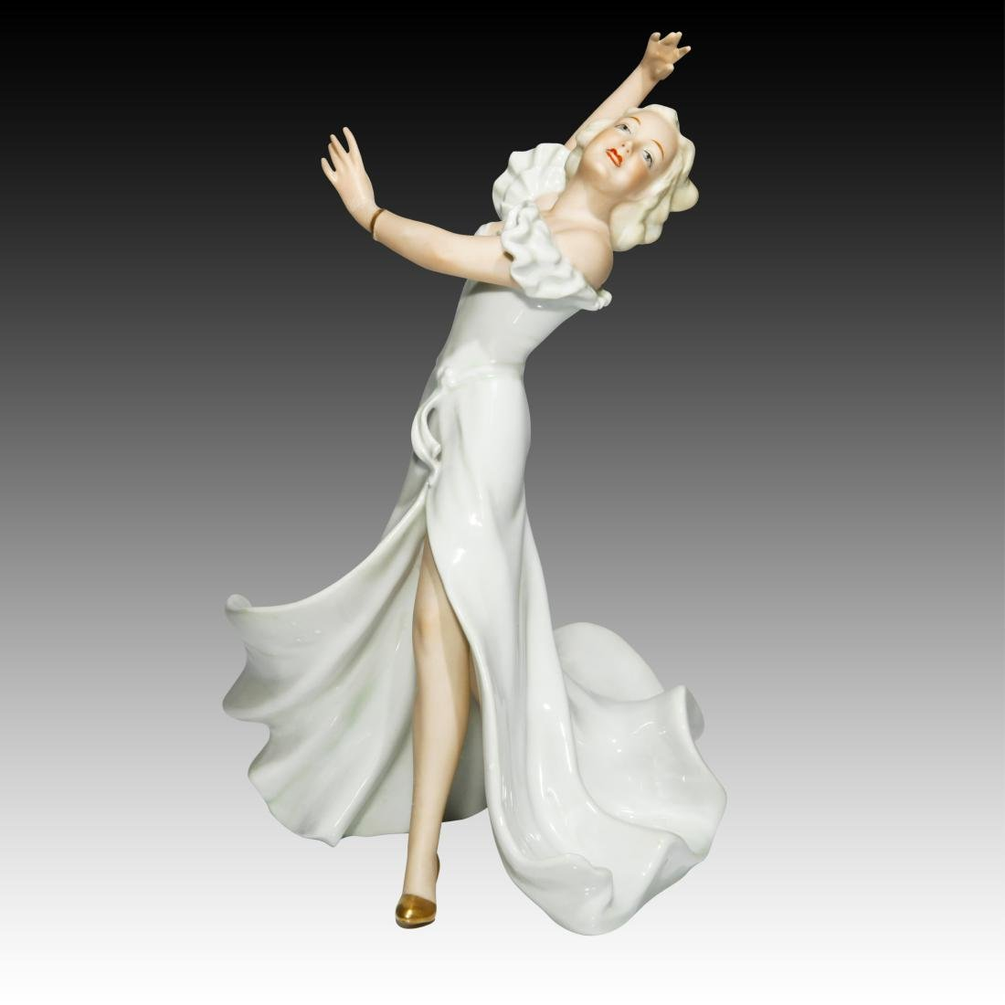 Wallendorf Female Art Deco Dancing Figurine