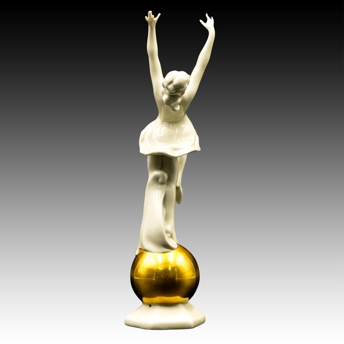 Art Deco Female Dancer on Golden Globe - 2