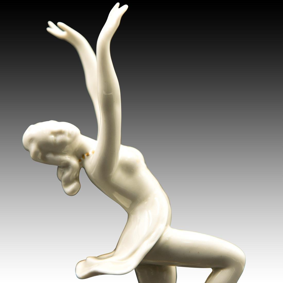 Art Deco Female Dancer on Golden Globe - 5
