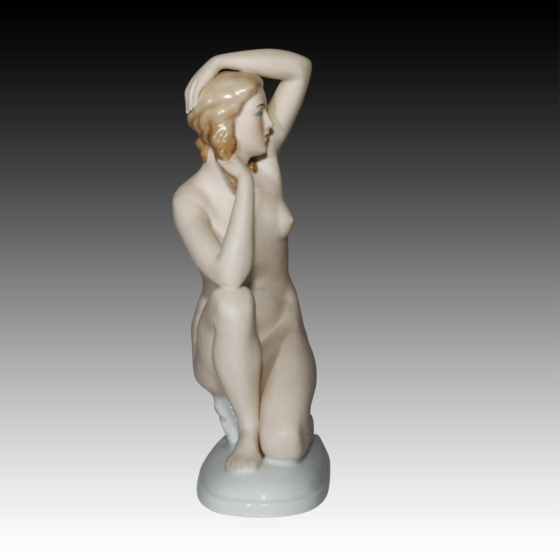 Gerold Porzellan Nude Woman on one knee Figurine - 2
