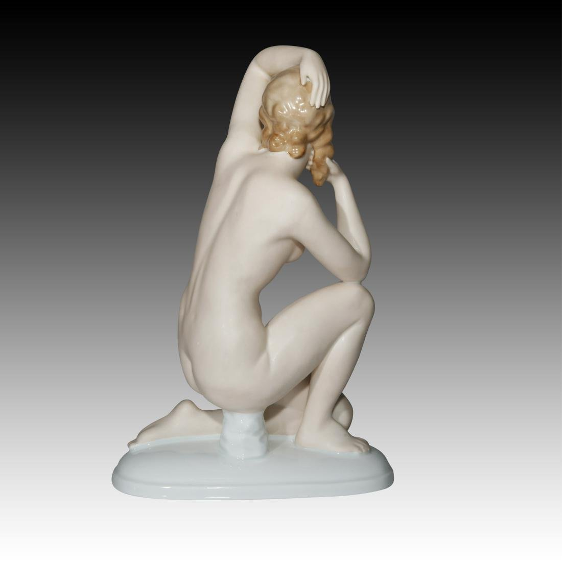 Gerold Porzellan Nude Woman on one knee Figurine - 3
