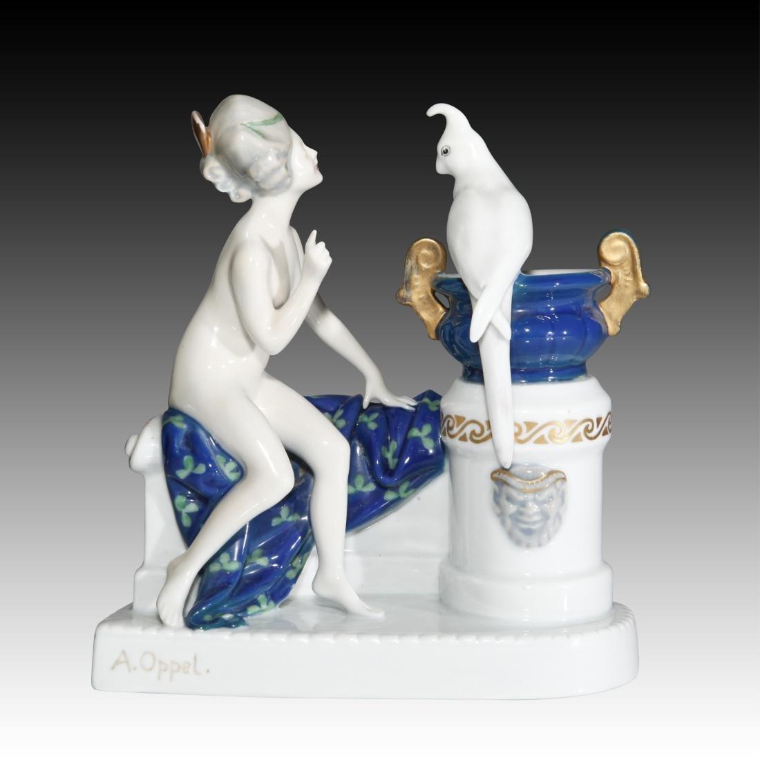 Rosenthal Figurine Nude Venus with Parrot