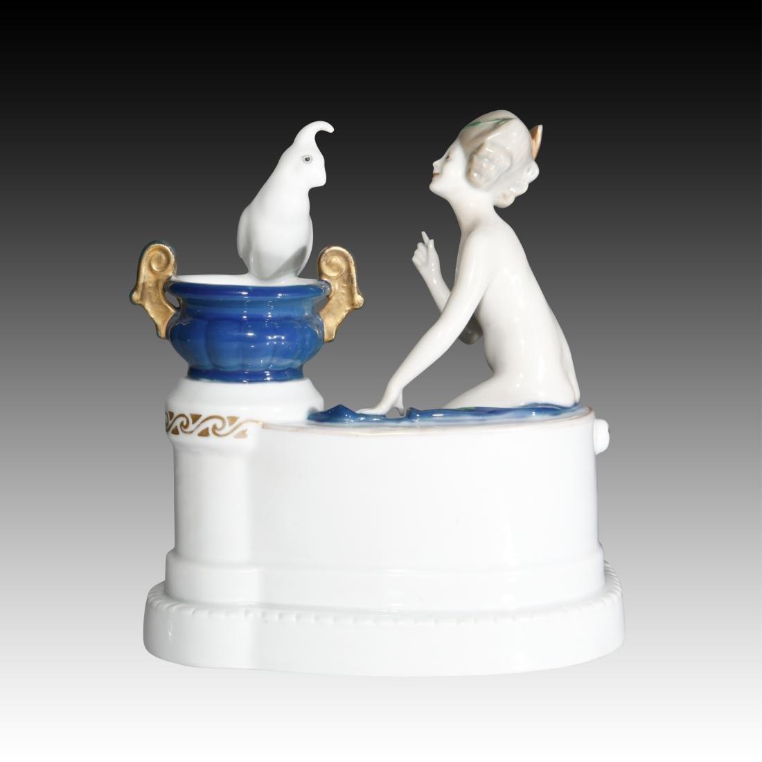 Rosenthal Figurine Nude Venus with Parrot - 3