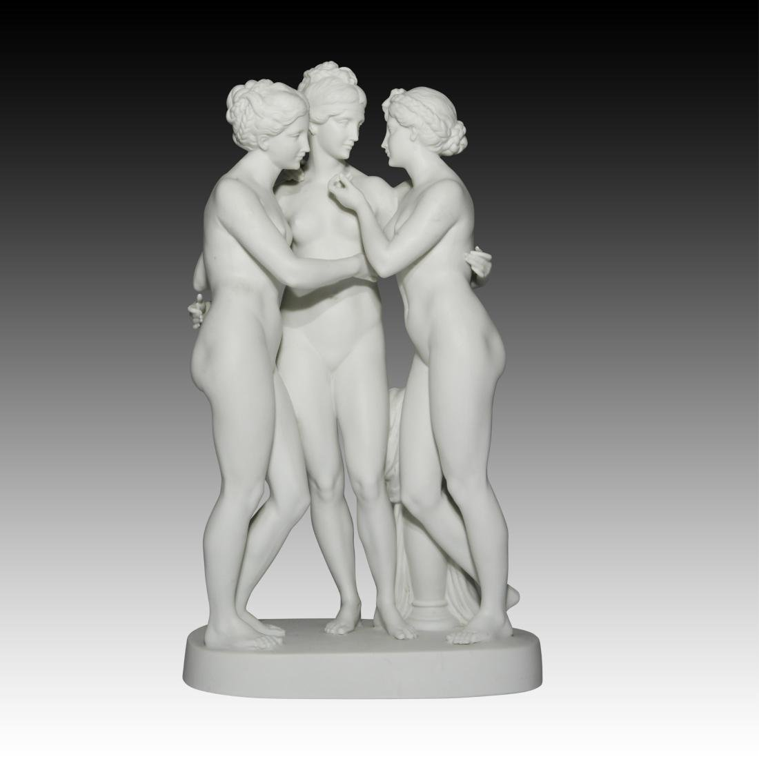 """Nude Group of Females """"The Three Graces of Paris"""""""