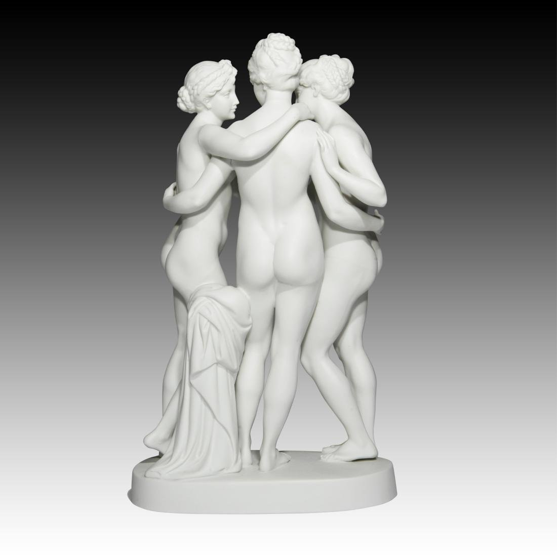 """Nude Group of Females """"The Three Graces of Paris"""" - 2"""